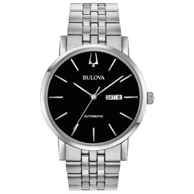 Bulova Mens Silver Tone Bracelet Watch-96c132