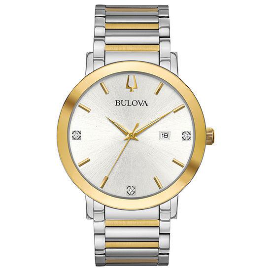 Bulova Mens Two Tone Bracelet Watch-98d151