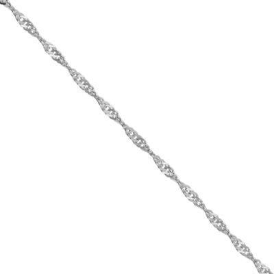 Itsy Bitsy Itsy Bitsy Sterling Silver Anklet Silver Tone Sterling Silver 9 Inch Semisolid Ankle Bracelet