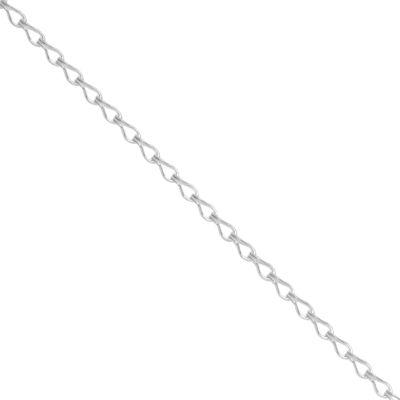 Itsy Bitsy Itsy Bitsy Sterling Silver Anklet Silver Tone Sterling Silver 9 Inch Semisolid Link Ankle Bracelet