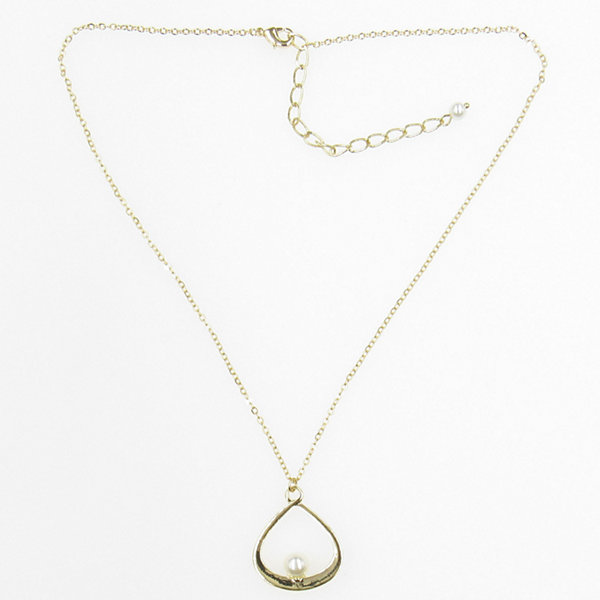 Vieste Rosa Womens White Brass Pendant Necklace