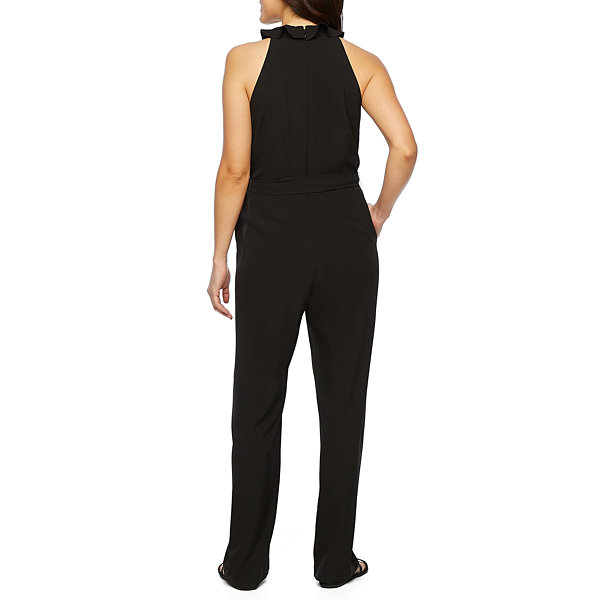 Nicole By Nicole Miller Sleeveless Belted Jumpsuit