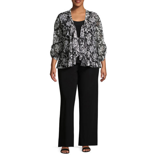 Perceptions 2-pc. Floral Pant Set - Plus