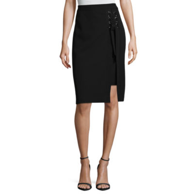 "Worthington Lace Up Pencil Skirt - Tall 28.25"""