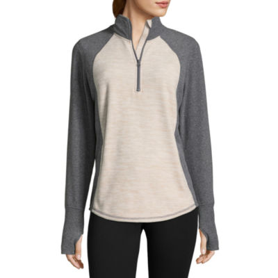 St. John's Bay Active Quarter Zip Fleece Jacket- Talls