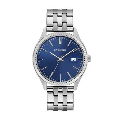 Caravelle Mens Silver Tone Bracelet Watch-43b151