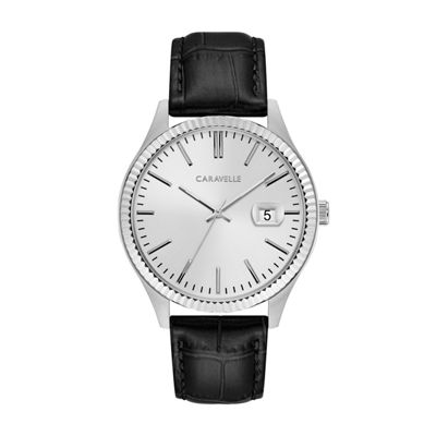 Caravelle Mens Black Strap Watch-43b150