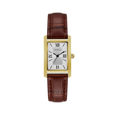 Caravelle Womens Brown Strap Watch-44l234