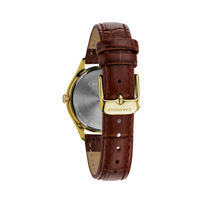 Caravelle Womens Brown Strap Watch-44m111