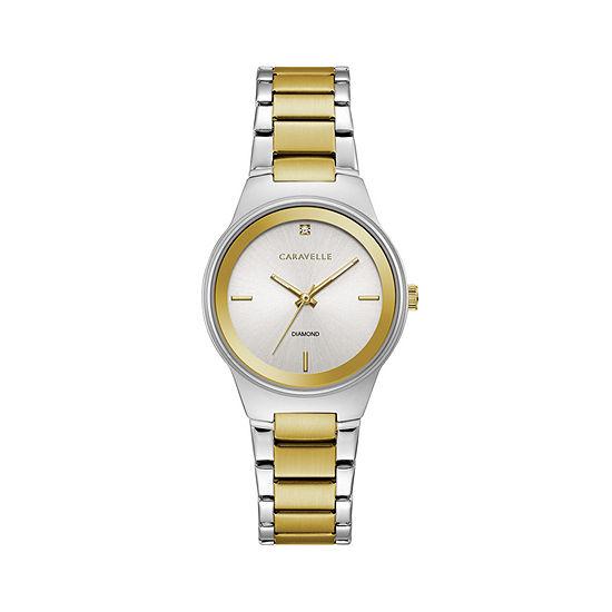 Caravelle Womens Rose Goldtone Bracelet Watch-45p108