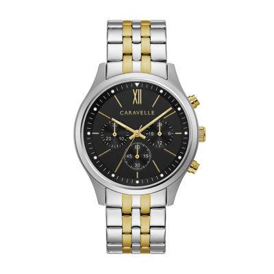 Caravelle Mens Rose Goldtone Bracelet Watch-45a143