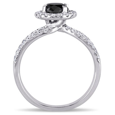 Womens 1 1/2 CT. T.W. Black Diamond 14K Gold Engagement Ring