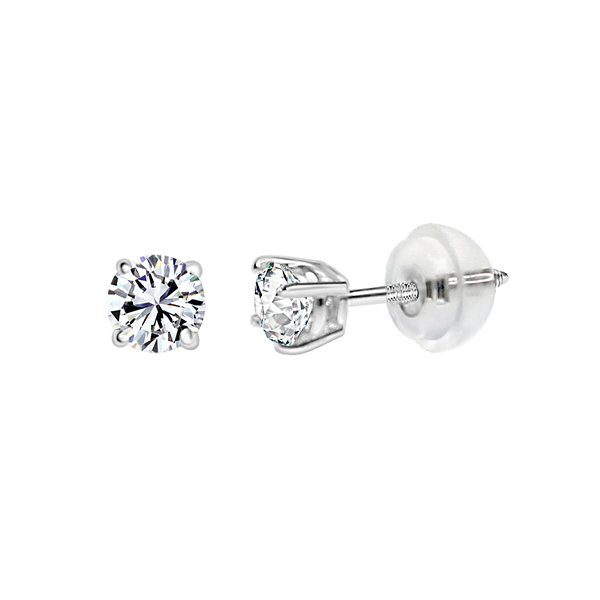 Swarovski 1/6 CT. T.W. Round White Zirconia 14K Gold Stud Earrings