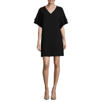 Worthington Tiered Ruffle Sleeve Dress - Tall