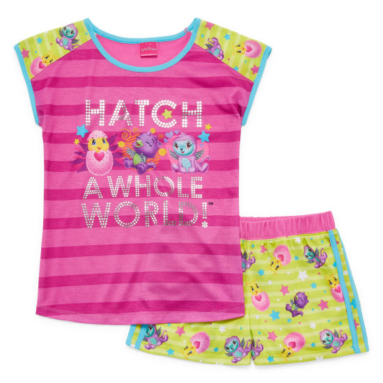 Hatchimals 2-pc. Shorts Pajama Set Girls