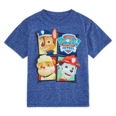 Nickelodeon Table Tees Short Sleeve Crew Neck Paw Patrol T-Shirt Boys