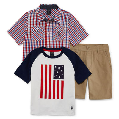 U.S. Polo Assn. 3-pc. Short Set Boys