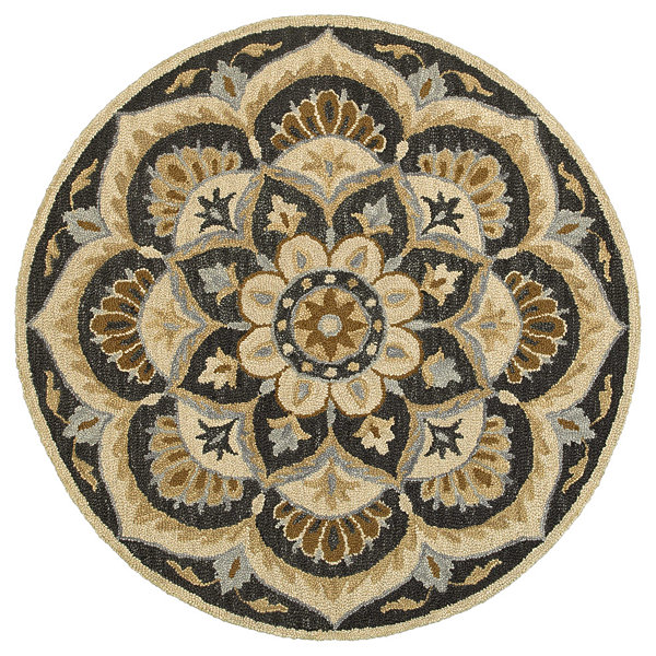 Dazzle Blooming Medallion Round Rug