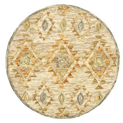 Dazzle Contemporary Diamond Round Rug