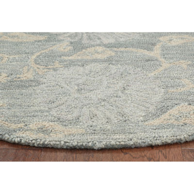 Dazzle Traditional Jacobean Round Rug