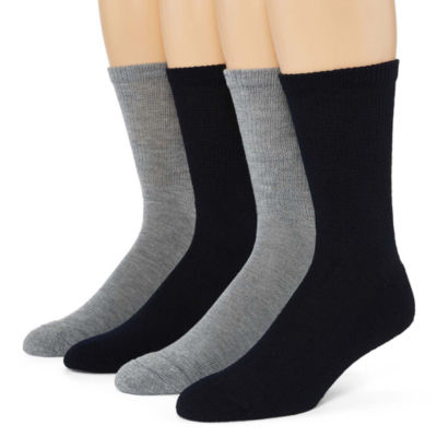 Dr. Scholl's Diabetes And Circulatory 4 Pair Crew Socks-Mens