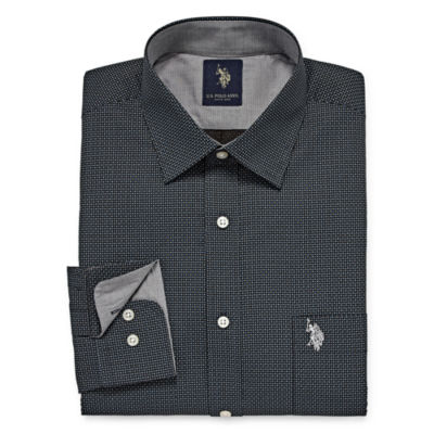 U.S. Polo Assn. Long Sleeve Geometric Dress Shirt - Slim