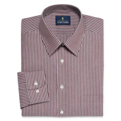 Stafford Travel Performance  Super Shirt Big And Tall Long Sleeve Broadcloth Stripe Dress Shirt