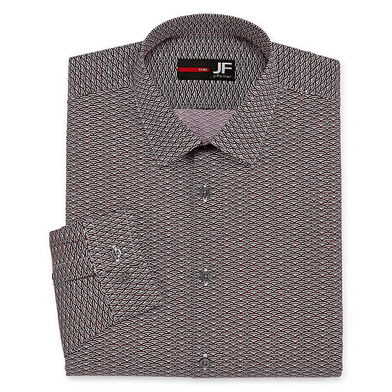 JF J.Ferrar Easy-Care Solid Mens Spread Collar Long Sleeve Stretch Dress Shirt