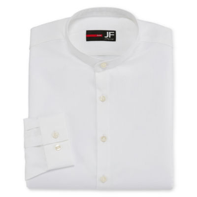 JF J.Ferrar Casualization Long Sleeve Dobby Dress Shirt - Slim