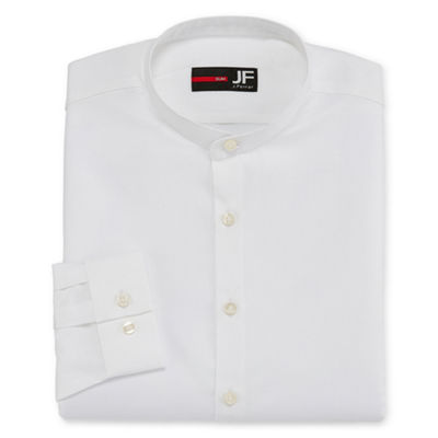 JF J.Ferrar Jferrar Casualization Long Sleeve Dobby Dress Shirt - Slim
