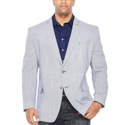 JF J.Ferrar Classic Fit Diamond Sport Coat - Big and Tall