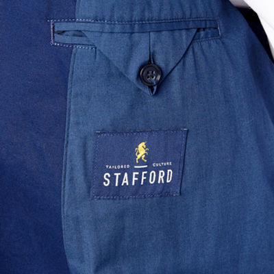 Stafford Navy Utility Classic Fit Sport Coat - Big and Tall