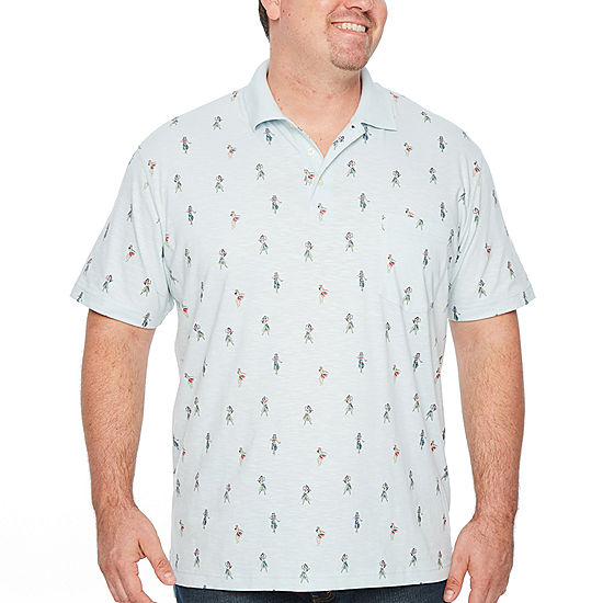 The foundry big tall supply co short sleeve jersey polo for Foundry men s polo shirts