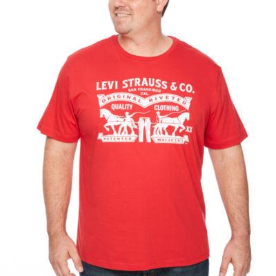 Levi's Levi B & T Tees Short Sleeve Crew Neck T-Shirt-Big and Tall