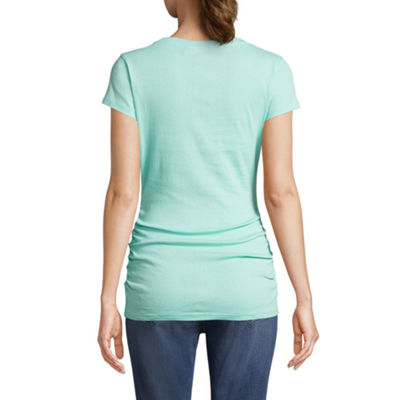 Planet Motherhood Crew Neck Tee - Maternity