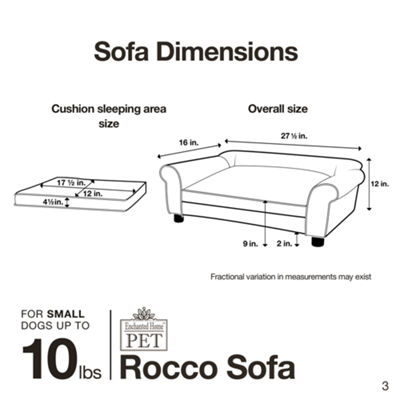 Enchanted Home Pet Rocco Sofa