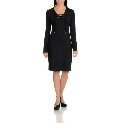 Harve Benard  Lace Up Dress