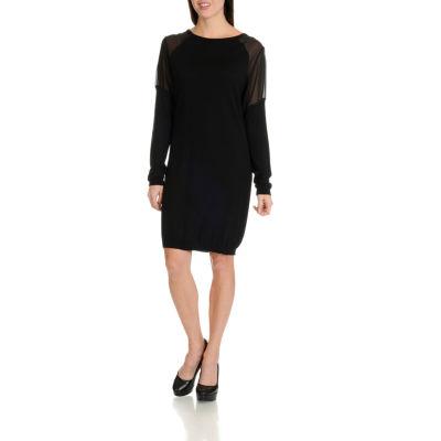Harve Benard Sheer Sleeve Dress