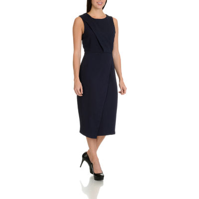 Harve Benard Pleat Front Shift Dress