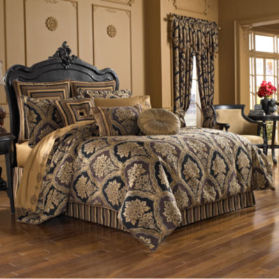 Five Queens Court Reilly 4-pc. Jacquard Heavyweight Comforter Set