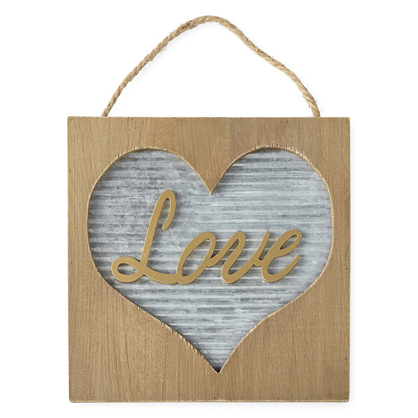 JCPenney Home Galvanized Wood Love Sign