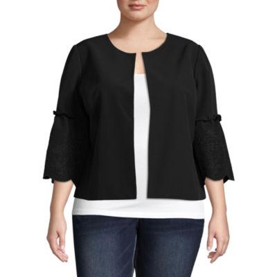 Liz Claiborne Bell Sleeve Jacket- Plus