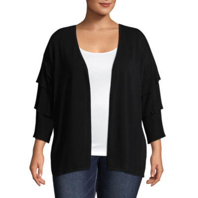 Belle + Sky Tiered Sleeve Cardigan - Plus