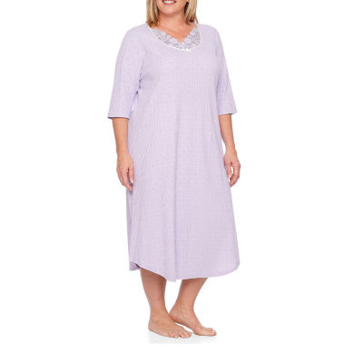 Adonna 3/4 Sleeve Long Gown - Plus