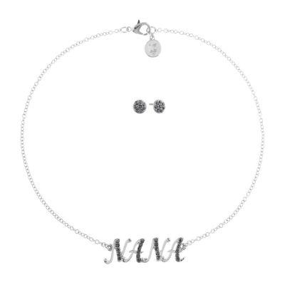 Liz Claiborne Nana Gray 2-pc. Jewelry Set