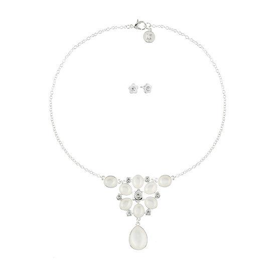 Liz Claiborne Silver Tone Flower 2-pc. Jewelry Set