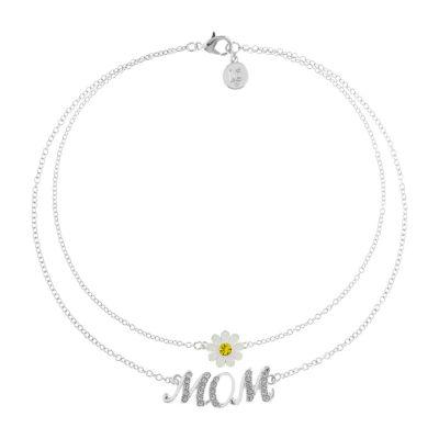 Liz Claiborne Mom Multi Color Silver Tone Flower 2-pc. Jewelry Set