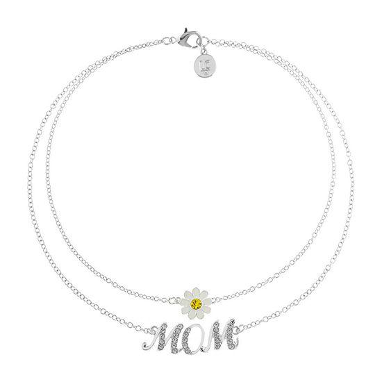 Liz Claiborne Mom Multi Color Silver Tone Flower 2 Pc Jewelry Set