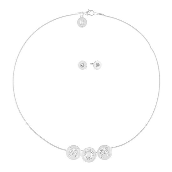 Liz Claiborne Mom Silver Tone 2 Pc Jewelry Set