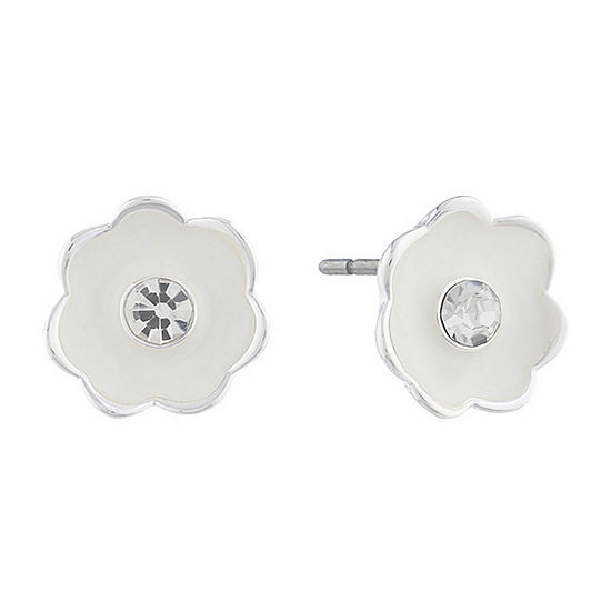 Liz Claiborne 20mm Flower Stud Earrings